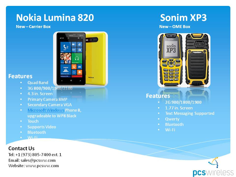 wholesale cell phones Nokia Lumia, Sonim XP3