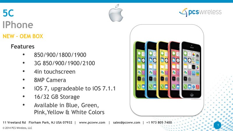 iPhone 5C, wholesale distributor of apple iphone 5c