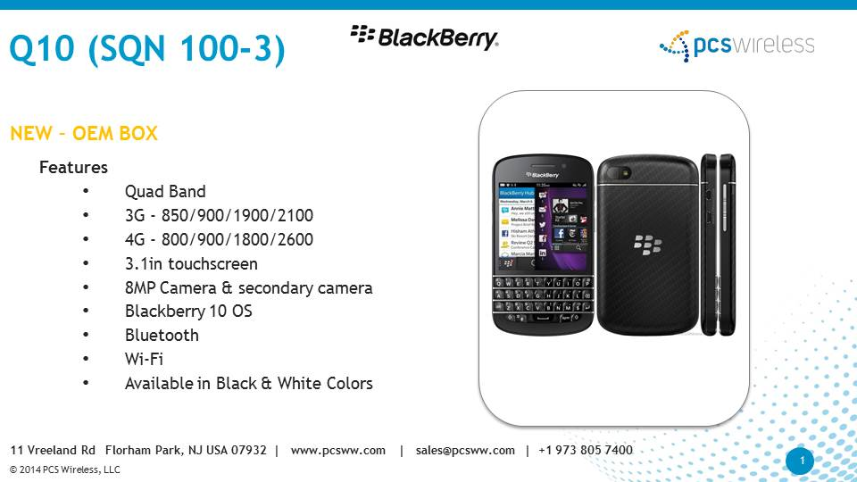distributor of Blackberry q10 cell phones in US