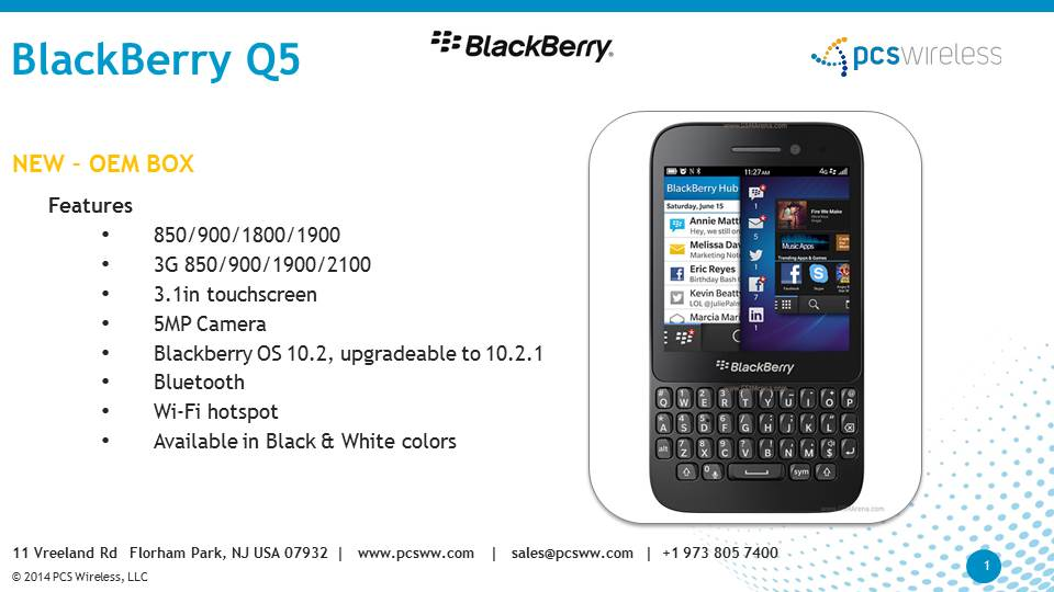 Blackberry wholesaler of Q5 Cell Phones