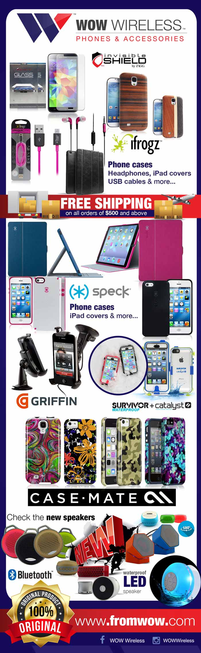 Wholesale Distributor of cell phone accessories, cases, protective screens