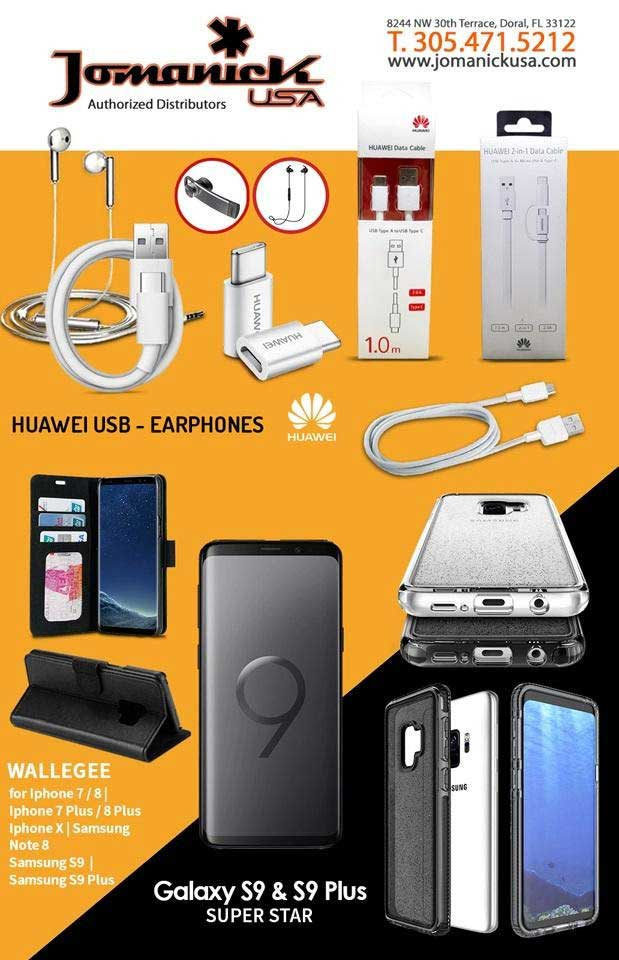 Wholesale Accessories for Huawei, Galaxy S9, S9 Plus mobile phones
