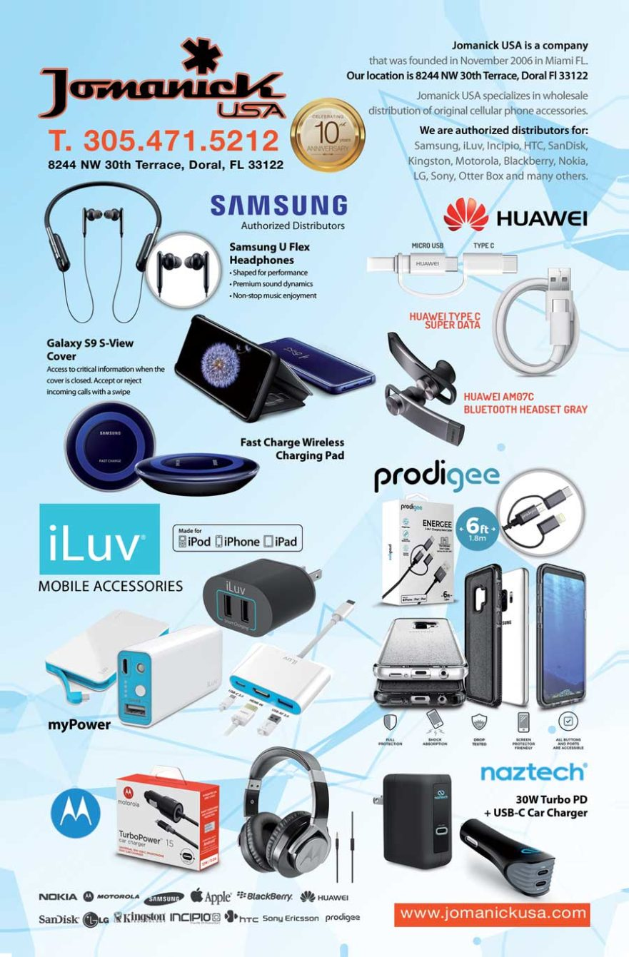 wholesale distributor of cell phone accessories - jomanick usa