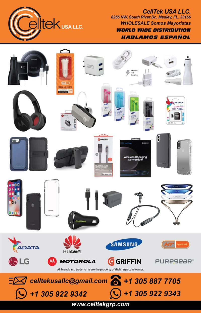 Celltek: Wholesale distributor of cell phone accessories, Cables, Chargers, Memory