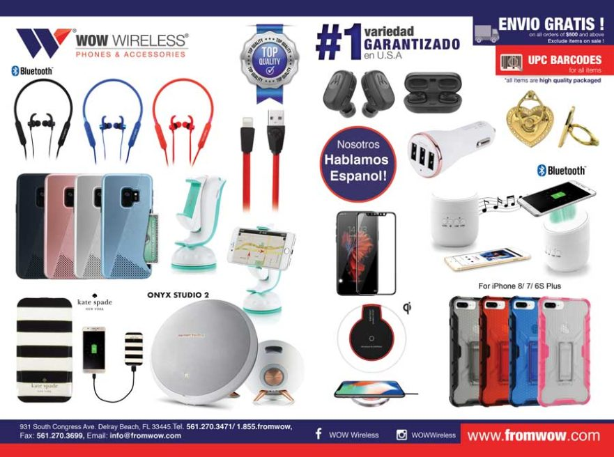 wholesale distributor of cell phone accessories, wearable tech, consumer electornics