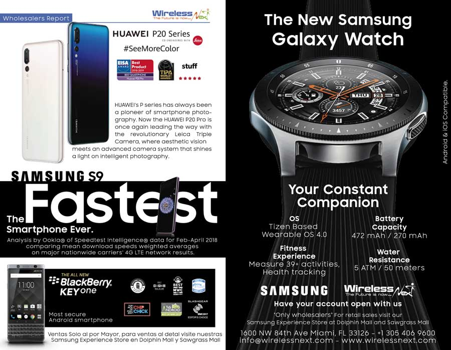 Samsung S9, Huawei P20, Galaxy Watch and more!
